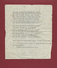 Lettera Dattiloscritta da Soldato a sorella Operazione del Fronte Cirenaico 1940