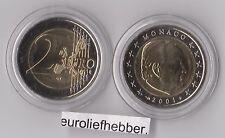Monaco       2 Euro  2001   Prins Rainier    UNC  op voorraad / in stock