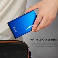 2TB 2.5inch Portable Metal External Hard Drive HDD USB 3.0 for Desktop Blue