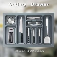 CUTLERY TRAY INSERT KITCHEN DRAWER QUALITY PLASTIC FORK SPOON ORGANISER