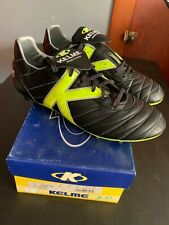 KELME MILENIA PRO KANGAROO BLACK SZ 11 MADE IN SPAIN YELLOW MASTER COPA REAL 44
