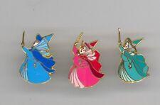 Disney Magical Moments Sleeping Beauty Fairies Flora Fauna Merryweather Pin Set