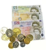 PLAY MONEY Set Kids Till Game Educational Pretend Play Money Counting Pounds