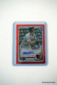 2020 Bowman Chrome ZACH WATSON RED Refractor RC Rookie Card AUTO Autograph 4/5