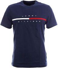 Tommy Hilfiger Mens XL Tino Logo-Print Crewneck T-Shirt: Navy Blue. 100% Cotton.
