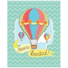 """1x Paquete de 8 UP UP & AWAY fiesta """"se le invita"""" ~ Baby Shower Invitaciones ~."""