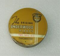Antique Vintage The Original UNDERWOOD Ribbo For The Typewriter Advertising Tin