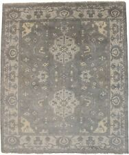 Classic Floral Oushak Chobi 8X10 Hand-Knotted Oriental Rug Home Decor Carpet