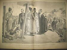 TURQUIE CHATIMENT DU CANON NIGER TIRAILLEUR & BOURDAMES JOURNAL DES VOYAGES 1902