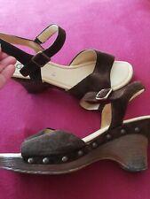 Tolle GABOR Damenschuhe Sandaletten  Gr.41 oder 7 1/2, braun , wenig getragen
