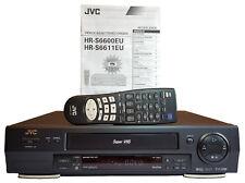 JVC HR-S6611 EU SVHS Videorekorder Super VHS VCR Player Fernbedienung Top SCART