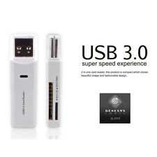 2-in-1 USB 3.0 Micro SD SDXC TF T-Flash Memory Card Reader Adapter up to 5 Gbps