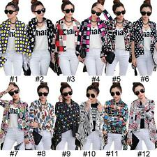 Waist Length None Floral Casual Coats & Jackets for Women