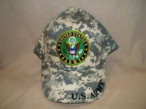 U.S. Army Camo Ball Cap with the Green Circular Emblem