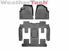 WeatherTech Car FloorLiner for Traverse/Acadia/Enclave- 1st/2nd/3rd Row - Black