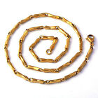 Handsome Men's yellow Gold Plate Figaro Chain Choker Necklace Statement
