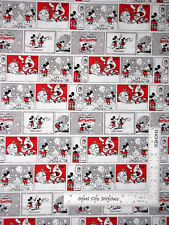 Disney Mickey Mouse Minnie Love Affair Comics Cotton Fabric CP65924 By The Yard