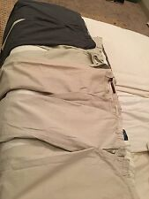 Lot of 4 Men's Dress Pants Khakis Polo Ralph Lauren Perry Ellis Merona 35-36 W
