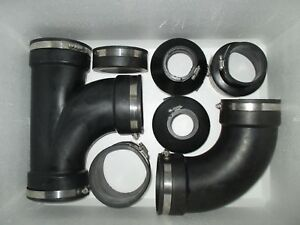 4.0 INCH RUBBER PIPE CONNECTORS / FITTINGS KOI POND