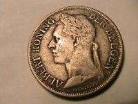 1926 Belgian Congo 1 Franc VF+/aEF Original Colonial Africa Belgisch Congo Coin