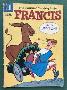 FRANCIS the Talking Mule Dell Comics Silver Age Four Color #991 mr ed fr/g