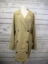 Smythe Les Vestes O/S S M L XL XXL Tan Walking Coat Double Breasted Light Jacket