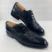 Mezlan Mens Nicola Oxford Dress Shoes Black Lace Up Cap Toe Low Top 9.5 M