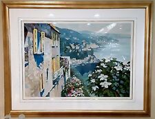Howard Behrens Mediterranean View Limited Edition Serigraph on Paper, Framed
