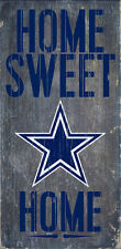 """DALLAS COWBOYS HOME SWEET HOME WOOD SIGN and ROPE 12"""" X 6""""  NFL MAN CAVE!"""