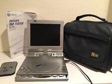 "Audiovox DV1680 Portable DVD Player 6.8"" Remote Manual & Case Logic Case TESTED"