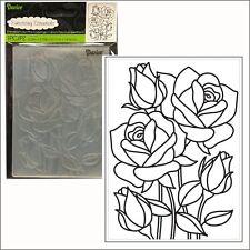 Mosaic Rose embossing folder - Darice embossing folders 30008386 flowers,leaves