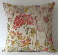 """Voyage Hedgerow Autumn Flowers Seeds 16"""" Cushion Cover"""