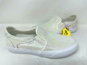 Vans Women's Off The Wall Slip On Skater Shoes Metallic Suede #72 Size:7.5 147 z