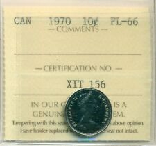 1970 Canada 10 Cent ICCS PL-66, Very Affordable for New Hobbyist