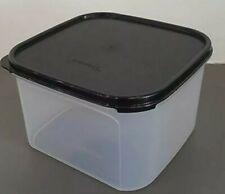 Tupperware Clear Storage Modular Mates #2 Square Black Seal 11 cups  NEW