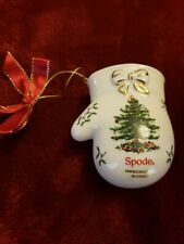 2015 SPODE CHRISTMAS TREE BABY'S 1ST~FIRST CHRISTMAS BABY MITTEN ORNAMENT