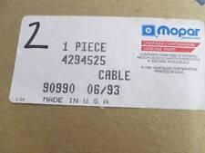Rear Brake Cable Fits 84 85 86 87 88 Mini Van Models NOS MOPAR 4294525