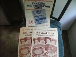 1973//83 NEW YORK YANKEES OLD TIMERS DAY PROGRAMS LOT (3) MANTLE, DIMAGGIO
