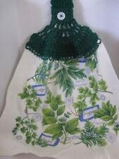 Crochet Everyday Kitchen Towel ~(Herbs) ~ **Gift Idea