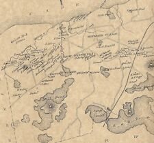 Brewster West Brewster East Brewster MA 1880 Map with Homeowners Names Shown