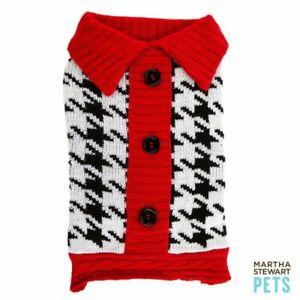 Martha Stewart Pets® HOUNDSTOOTH BARN Dog Sweater Soft Warm XLarge