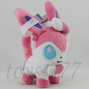 "mini Sylveon Fairy Eevee 6"" Stuffed Animal Plush Toy Nintendo Halloween Doll"