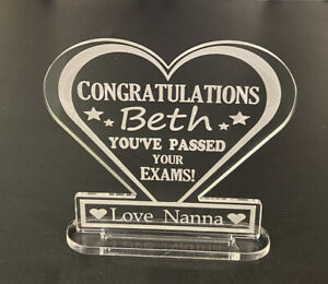 personalised Congratulations On Passing Exams Gift Plaque GCSES A Level Degree