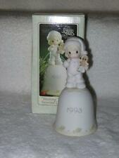 Precious Moments Wishing You The Sweetest Christmas Bell #530174 Mib 1993