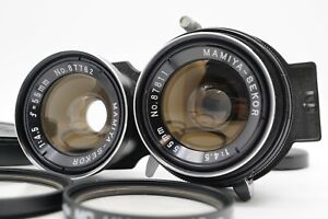 [MINT w/ Caps] Mamiya Sekor 55mm f/4.5 TLR Lens For C220 C330 Series From Japan
