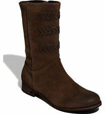 UGG® AUSTRALIA CAILYN 3182 BROWN SUEDE ZIP UP BOOTS UK 5.5 EUR 38 USA 7 RRP £245