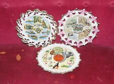 """Souvenir State Plates Vintage 9 1/4"""" Porcelain, Wonderful Condition"""