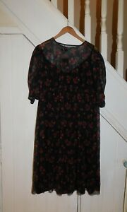 NEW LOOK MATERNITY DRESS - NWT SIZE 18 - PRETTY FLORAL DRESS WITH SLIP