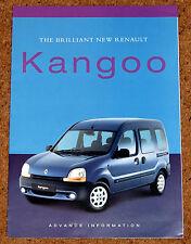 RENAULT KANGOO Pre-Launch Preview Sales Brochure 1999