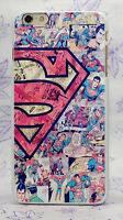 Superman Logo marvel hard Case Cover For iPhone 5S 6 6S Plus Galaxy A3-A7 J3 J7